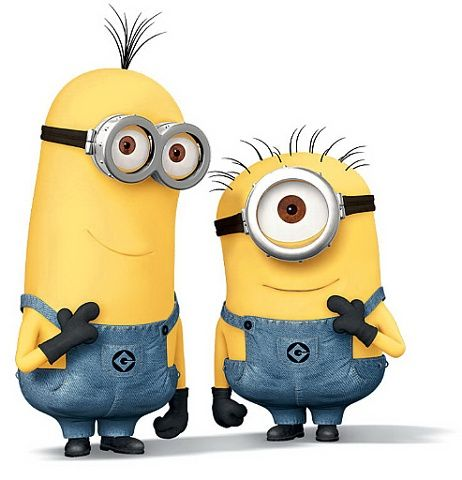 minions pair smiling | Minions...because who doesn't love ...