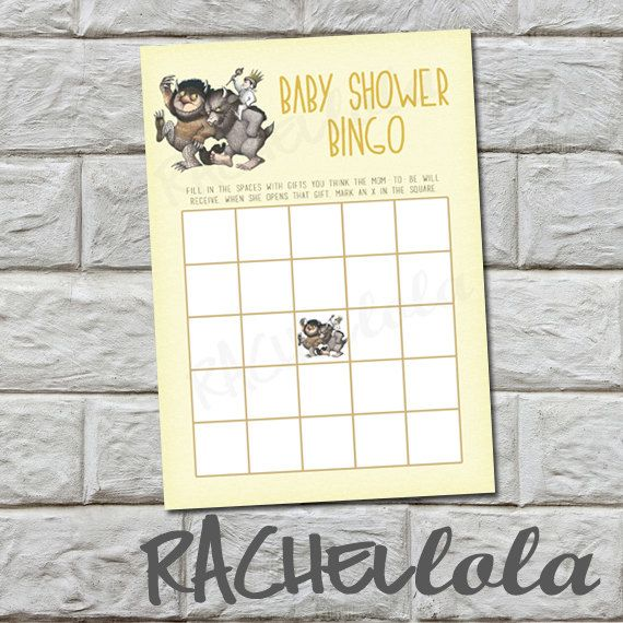 where the wild things are baby shower bingo by rachellola on etsy 5