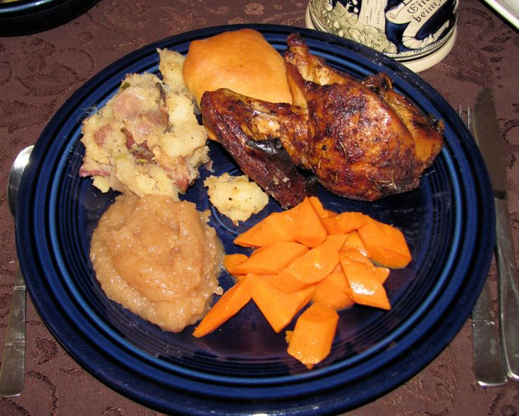 Oktoberfest Dinner: Roasted Chicken, Bierocks, German Potato Salad ...
