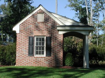 What a potting shed outdoor spaces pinterest for Brick carport designs