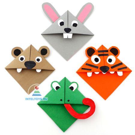 Закладки для книг оригами бабочка