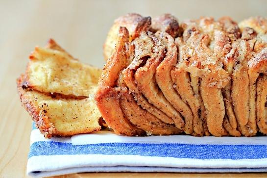 Cinnamon Sugar Pull-Apart Bread | Tree falling | Pinterest