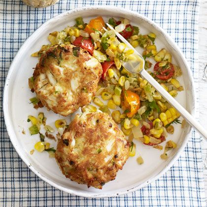 lower cal guilt free crab cakes and serve with a salad serve with ...
