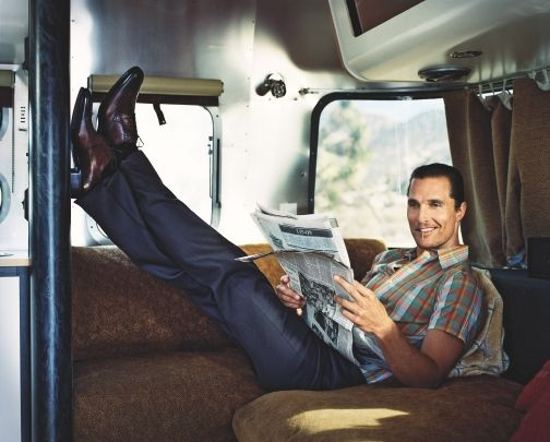 Matthew Mcconaughey And His Airstream Tin Can Trailer