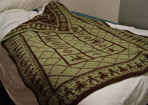 Double Knitting : Double knit folkloric afghan Double knitting Pinterest