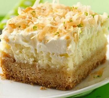 Coconut Lime Frosted Cheesecake Bars - Recipe, Cakes, Cookies ...
