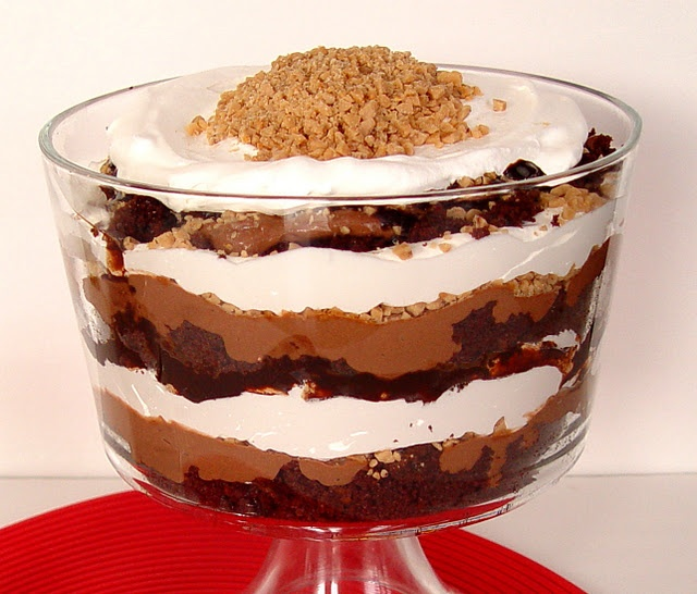 chocolate toffee trifle. i might need to buy a trifle dish just for ...