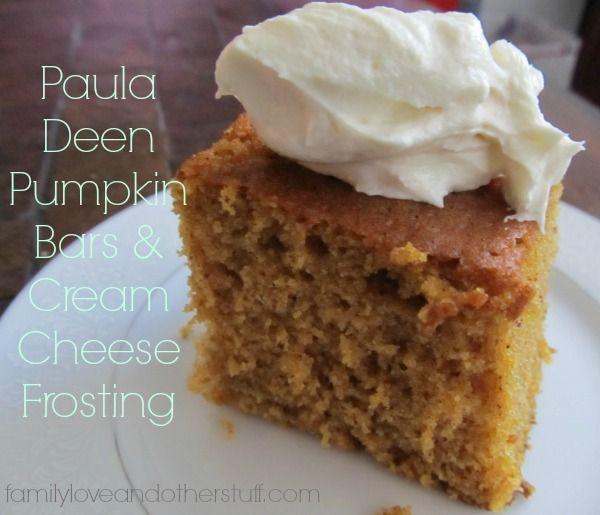Paula Deen Pumpkin Bars | Desserts | Pinterest