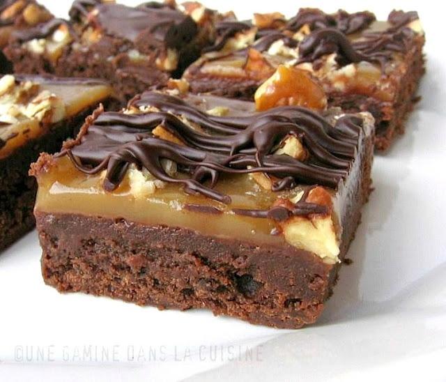 Salty Turtle Brownies Recipe | Food - Drink | Pinterest