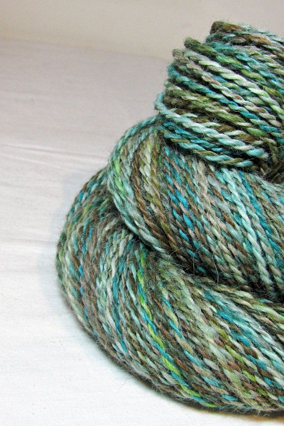 Handspun Yarn Two Ply Cria Baby Alpaca River by SheepingBeauty, $40 ...
