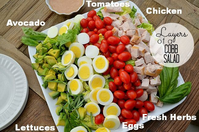 Layered Cobb Salad. I imagine you could make this like a 7-Layer Salad ...