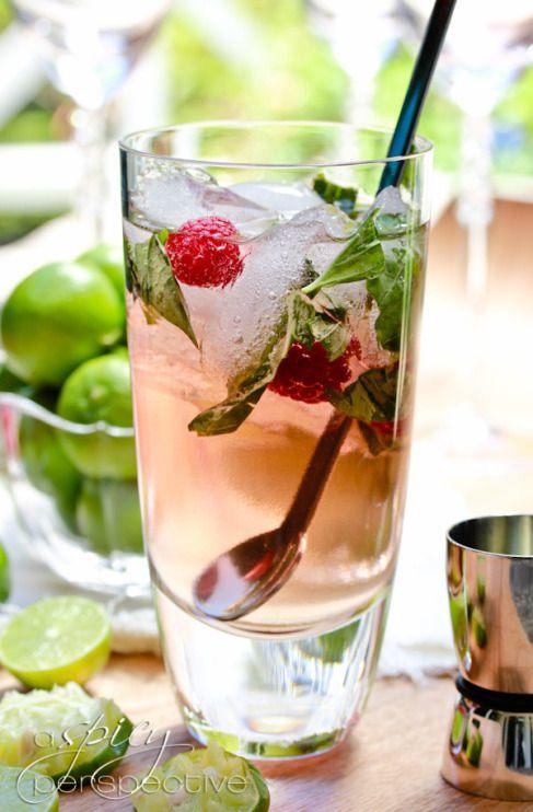 Raspberry Basil Mojito easy recipe   Delicious food recipes   Pintere ...