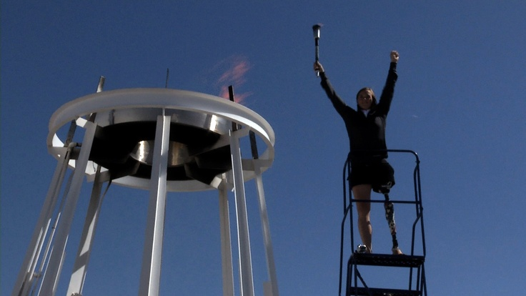 Lighting the torch at the 2012 Warrior Games