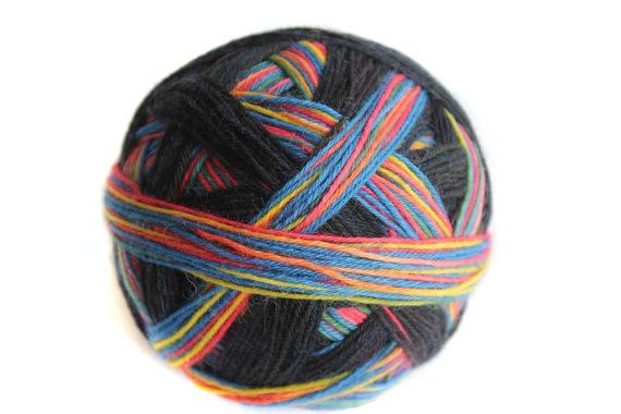 Tangy Self Striping Sock Yarn in Gothic Rainbow - new 13.07.13