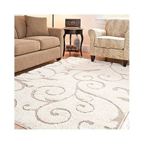 Area Rug Carpet 8 X 10 Power Loomed Shag Living Dining Room Bedroom H