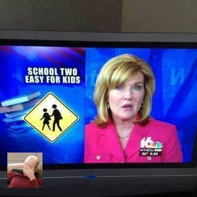 Misspelled signs on news