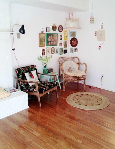 Salon vintage deco retro pinterest - Decoration salon vintage ...