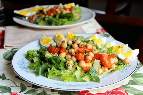 ... red pepper salad http www diypinterest com chickpea and roasted red