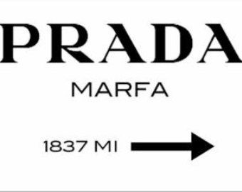 Digital Prada Marfa Print 100cm x 60cm