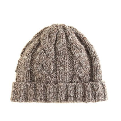 Woolen Hat Knitting Pattern : Wool cable-knit hat My Style Pinterest