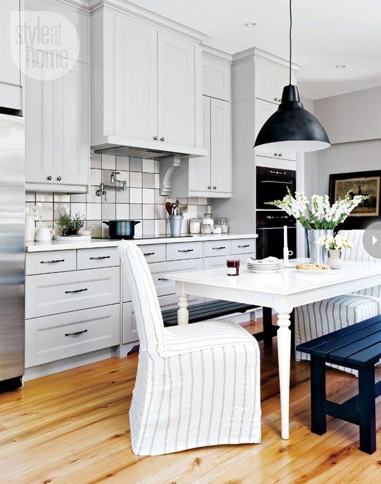 Black and white farmhouse #kitchen  Design and Home  Pinterest
