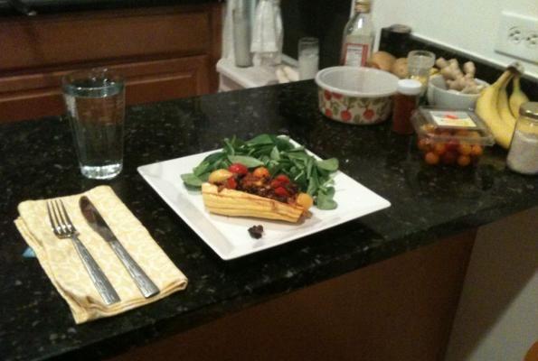 Roasted + Stuffed Delicata Squash with Adzuki Beans and Kale