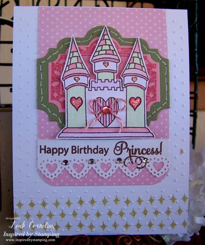 Inspired By Stamping Princess stamp set, birthday card