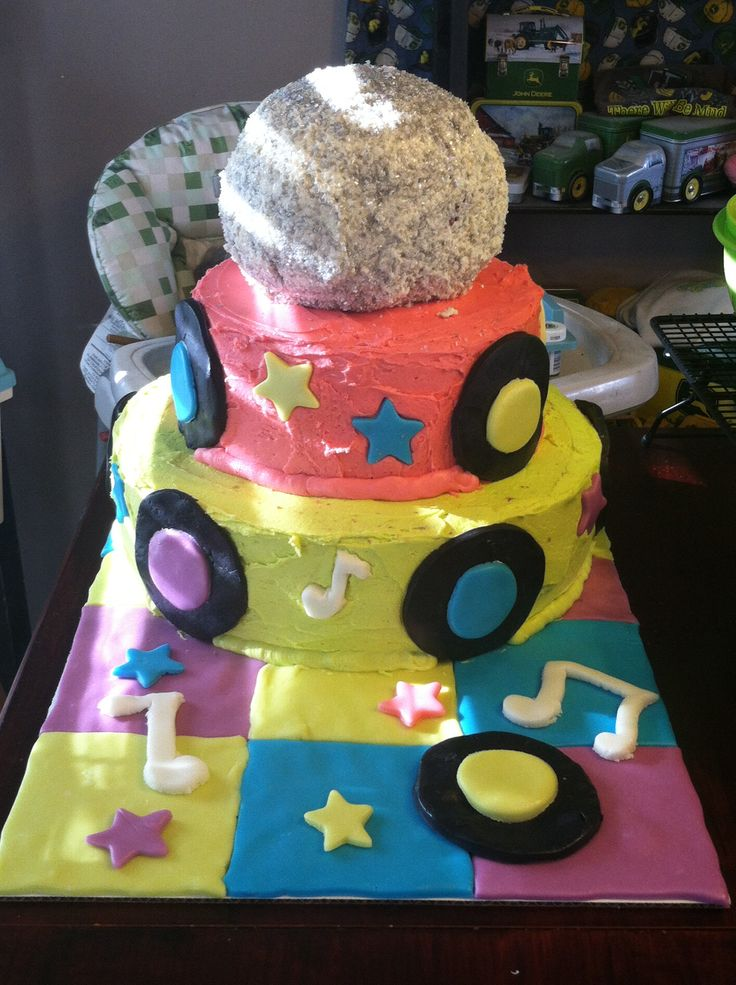 Cake Decorating Disco Ball : Disco ball music cake Decorating and baking Pinterest