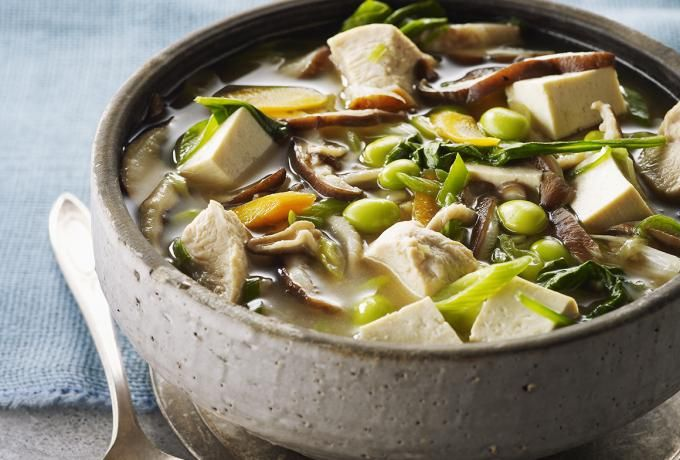 Recipes - Miso Chicken & Tofu Soup » Chicken.ca
