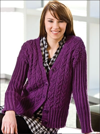Free Lace Knitting Patterns For Cardigans : Free Lace Cardigan Pattern to Knit Knitting Pinterest