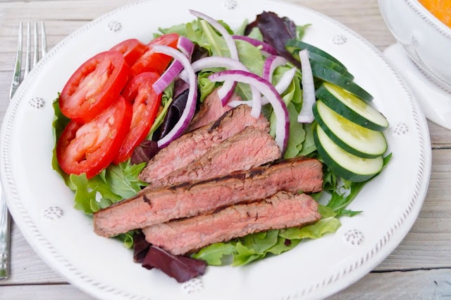 Chipotle Steak Salad | Salad & Vegetarian Recipes - Kuzak's Closet ...