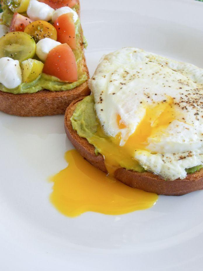 Avocado Toast with Eggs, Tomato, & Mozzarella | Recipe