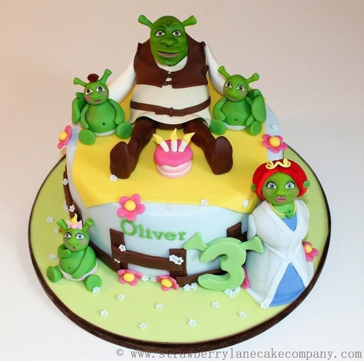 Shrek Cake for Oliver