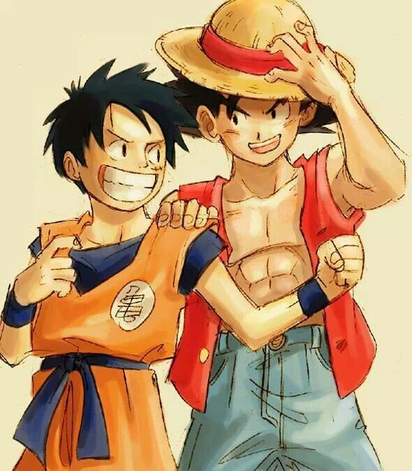 One Piece & Dragon Ball Z Crossover.