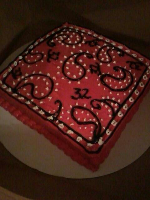 red bandana cake
