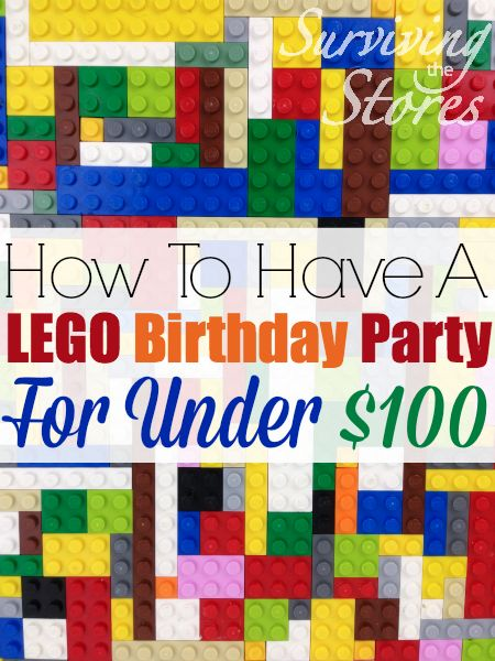 have a LEGO birthday party for under 100 dollars - lots of great ideas ...