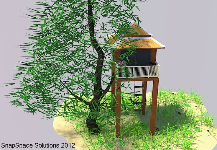 SnapSpace shipping container tree house | Things We Love | Pinterest