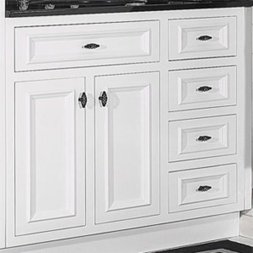 JSI 36quot; RTA White Inset Vanity with 3 RH Drawers at Menards