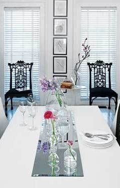 door mirror visiting dining room placemats table runner chair dec