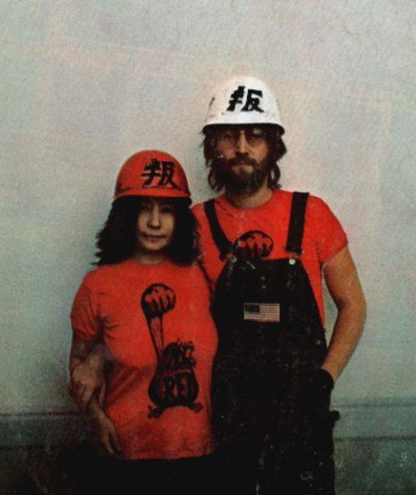 Yoko Ono-Lennon and John Lennon (power to the peaceful)