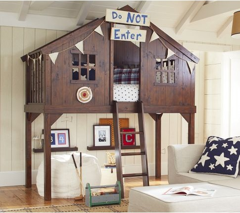Fort bed from pottery barn kids home kid 39 s room ideas for Fort bedroom ideas