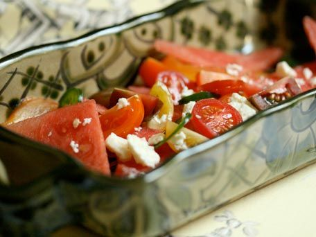 Watermelon and Tomato Salad with Feta | What's On The Side? | Pintere ...
