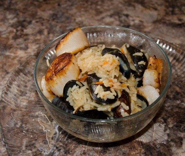 Mussel, Shrimp and Scallop Paella | Food: Fish,Crab,Shrimps,Lobster a ...