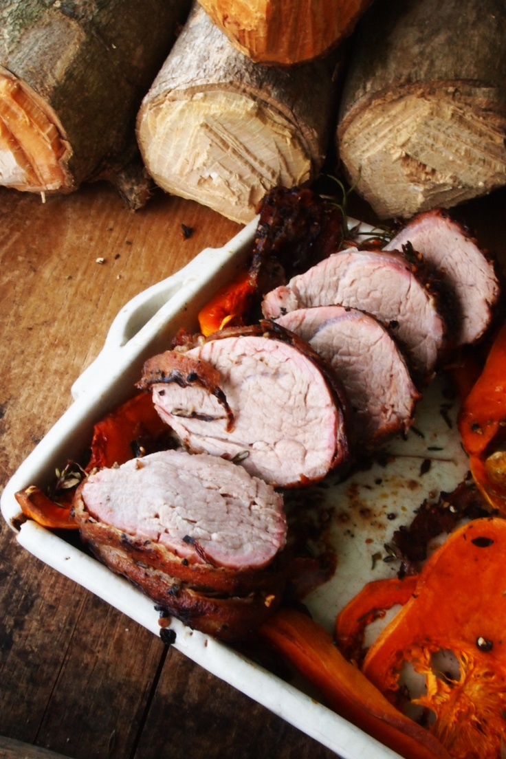 Roasted Bacon Wrapped Pork tenderloin | JUICY PORK | Pinterest