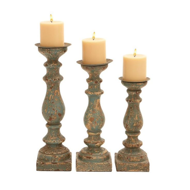 Rustic Candle Holders Home decor Pinterest