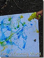 water gun painting
