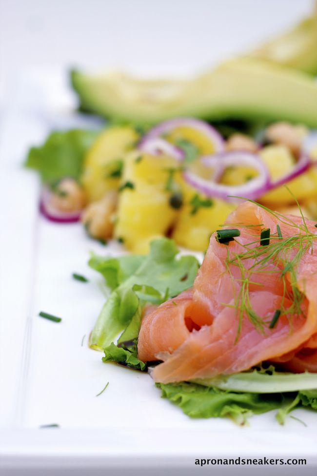 ... and beyond potato amp chickpea salad with smoked salmon amp avocado