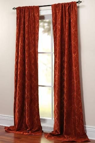 rust curtains dream home pinterest