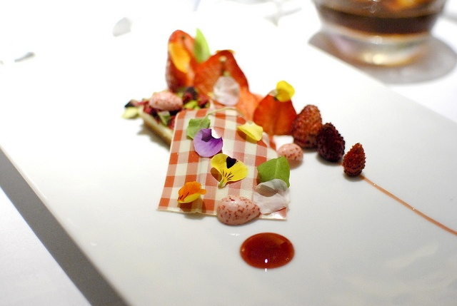 MACERATED STRAWBERRIES Olive Oil Biscuit, Chamomile, Coriander, Jelly ...