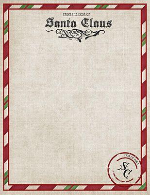 Free Printable Santa Stationary